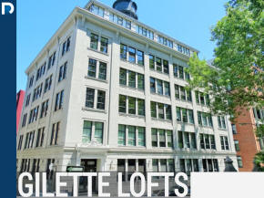 Lofts for sale in the Gillette Lofts Building at 1085 St Alexandre