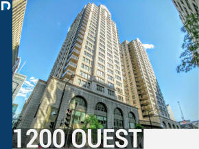 1200 Ouest 1200 De Maisonneuve building in the Golden Square mile Luxury apartment and condos for sale in Downtown Montreal