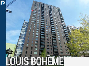 Le Louis Boheme Condos and apartments for sale and for rent in Downtown Montreal