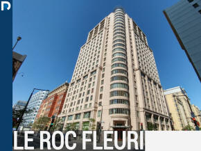 Le Rocy Fleury luxury condo building apartments for sale and for rent in Downtown Montreal's golden square mile