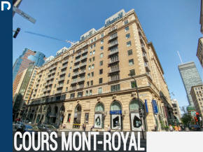 Apartments and Condos for sale and for rent in Les Cours Mont Royal building with Alex Kay Real Estate Broker